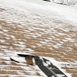 Stock Photo: Winter Damaged Roof Shingles