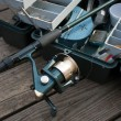 Fishing Rod and Tackle Box — Stock Photo #8945870