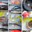 Stock Photo: Fishing Tackle Box