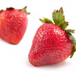 Two Ripe Strawberries - Stock Photo