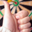 Dart Board Bulls Eye — Stock Photo