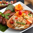 Thai Sausage and Som Tum Salad — Stock Photo #8946118