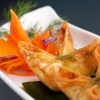 Thai Crab Cream Cheese Wontons Appetizer - Stock Photo