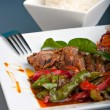 Thai Chile Basil Duck - Stock Photo