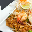 Seafood Pad Thai Fried Rice Noodles — Stock Photo #8946149