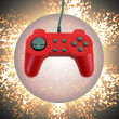 Stock Photo: Game controller w clipping path