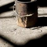 Old paint bucket — Stock Photo