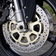 Motorcycle Wheel Detail - Stock Photo