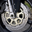 Motorcycle Wheel Detail — ストック写真