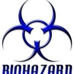 Постер, плакат: Beveled Red Biohazard Logo