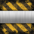 Hazard Stripes Brushed Metal — Stock Photo