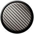 Carbon fiber button - ストック写真