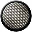 Carbon fiber button - Stockfoto