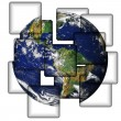 Stock Photo: Earth In Tiles