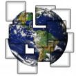 Earth In Tiles - Stock Photo