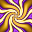 A gold and purple spiral vortex twirl abstract. — Photo