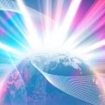 Glowing Earth — Stock Photo