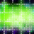 Stock Photo: Glowing Green Dots