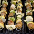 Shish Kebabs on the Grill — Stock Photo #8947718