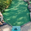 Stock Photo: Mini Golfing