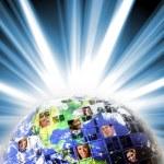 Global Worldwide Network of — Stock Photo