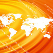 Orange world map - Stock Photo