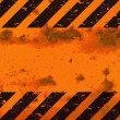 Rusted Hazard Stripes Sign — Stock Photo