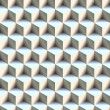 Seamless 3D Boxes Pattern - Stock Photo