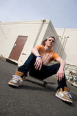 Skateboarder Hanging Out — Stock Photo