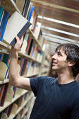 Student At the Library — Stock Photo