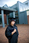 Graduate With Her Diploma — Stock Photo