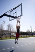 Man Dunking a Basketball — Stock Photo