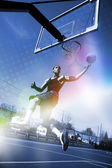 Basketball Slam Dunk — Stock Photo