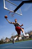 Man Playing Basketball — Stock Photo