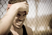 Frustrated Athlete — Stock Photo