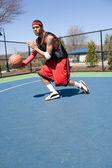 Баскетболист, сочащийся — Стоковое фото