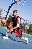 Basketball Crossover Dribble — Stock Photo