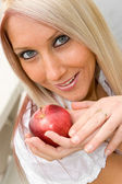 Woman and Apple — Foto Stock