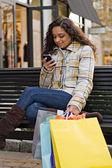 Hezká dívka nakupování — Stock fotografie