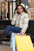 Pretty Girl Shopping — Stock Photo