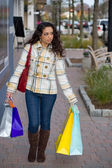 Woman Out Shopping the Town — Stock Photo