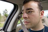 Bored Car Passenger — Stock Photo