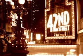 Times Square 42nd Street Sepia — Stock Photo