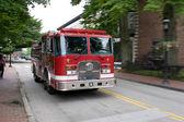 Bewegliche Feuerwehrauto — Stockfoto