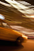 Abstract Yellow Taxi Cab — Stock Photo