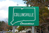 Collinsville Connecticut Road Sign — Stock Photo