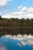 коннектикут листва осени — Стоковое фото