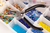 Beads for Jewelry Making — Stock Photo