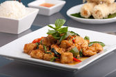 Thai Food and Jasmine Rice — Stock Photo
