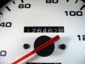 Car Odometer — Stock Photo